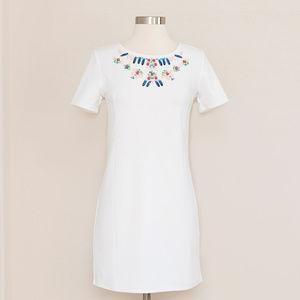 Lipsy Dress with Embellished Neckline  2